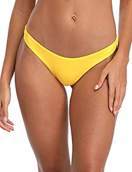 RELLECIGA Women s Yellow Super Cheeky Brazilian Cut Bikini Bottom Size Large