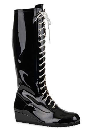 Mens Black Wrestling Boots Size 11