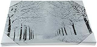 Clever Creations Snowy Path Light Up Poster | Sparkling Canvas Wall Art with Bright LED Lighting | 15.75