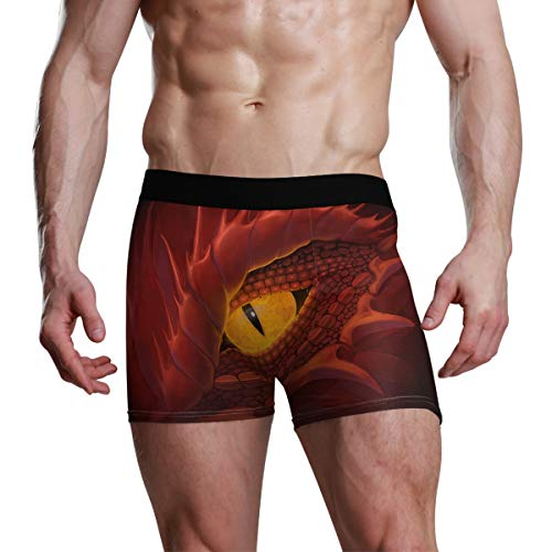 Herren Boxershorts Dragon Eyes Stretch Atmungsaktive Unterhose