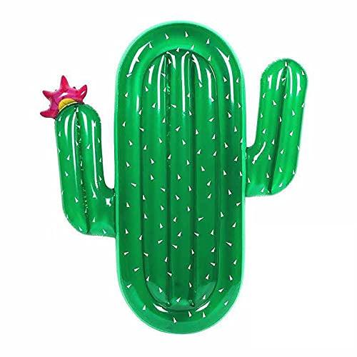 GSYNXYYA Flotador Piscina Inflable, Cactus Fila Flotante Inflable Cama Flotante en el Agua, Partido de Verano PVC Fila Flotante de Juguete de natación para Adultos (70.8'* 53.1')