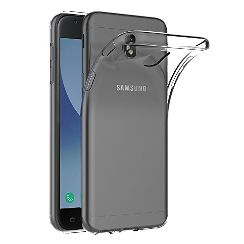 AICEK Samsung Galaxy J3 2017 Hülle, Transparent Silikon Schutzhülle für Samsung J3 2017 Case Crystal Clear Durchsichtige TPU Bumper Galaxy J3 2017 Handyhülle (5 Zoll SM-J330F)