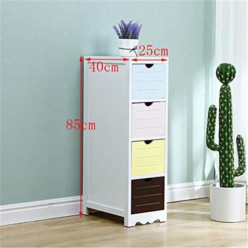 WanuigH Hoekkast massief hout ultra nauwe opbergkast mini nachtkastje meerlagige opslag Gap Cabinet hoekplank