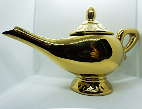 Disney Aladdin Genie Lamp Ceramic Teapot, 9 x 5.5 inches, 9 oz