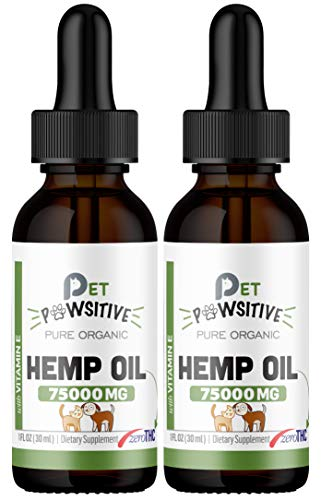 Pet Pawsitive - Hemp Oil for Dogs and Cats - Made in USA - Separation...