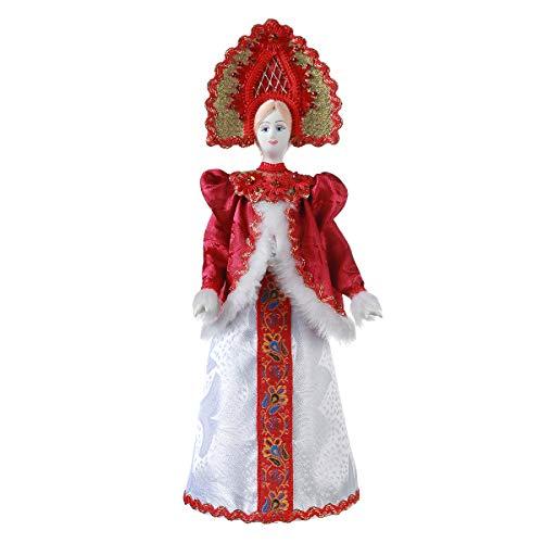 danila-souvenirs Russische handgemaakt porselein traditioneel volkskostuum pop 31 cm 23-20