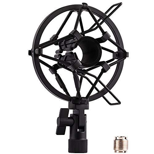 LYRCRO Microphone Shock Mount Holder Clip Mic Anti-Vibration for 22mm-26mm Diameter Dynamic Mic Like Shure SM58 SM57 PAG48 Sennheiser E835 E845 AKG D5S Samson Q7 Q8 Behringer Xm8500