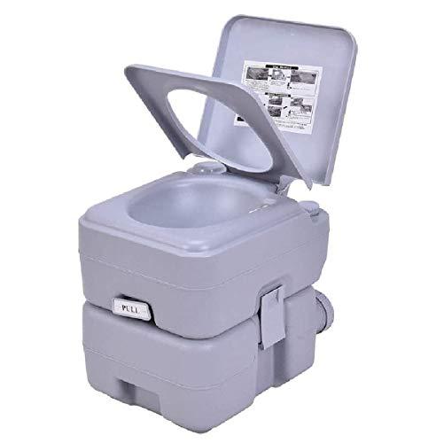 S AFSTAR Portable Flush Toilet Potty Commode 5 Gallon 20L