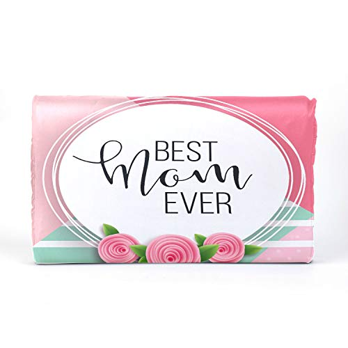 QiyI ChildrensPillow ChildMemoryFoamPillow Latex Pillow with Best Mom Ever Pink Rose Cotton Pillowcase 17.3 X 9.9 X 2.3 in for Boys Girls 2-10 Years Old Children