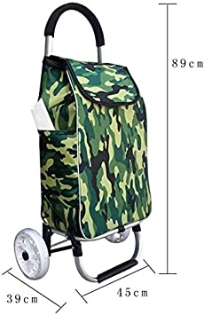 Color : C CNMYDZ Old Pers on Shopping Trolleys,Grocery Cart Small Cart Shopping Cart CanClimb Stairs Folding Portable Trolleys Elderly Lightweight Household Cart Trailer,D,B