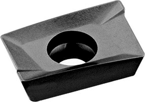 """Cobra Carbide 42734 Solid Carbide Indexable Milling Insert, C550 Grade, Uncoated (Bright) Finish, APKT Style, APKT 1003 PDR-HM, 0.445"""" Thick, 0.020"""" Radius (Pack of 10)"""