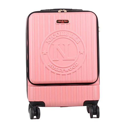 Nicole Lee Women's Carry On [pink] Hard Shell Travel Luggage, Laptop Compartment Rolling Wheels, One Size
