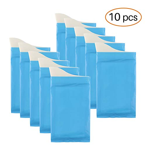 GGBuy Disposable Urine Bags Camping Pee Bags for Travel Urinal Toilet Super Absorbent Traffic Jam Emergency Portable Urine Bag Pee Bags Car Toilet for Men Women Children Brief Relief 10 Pcs