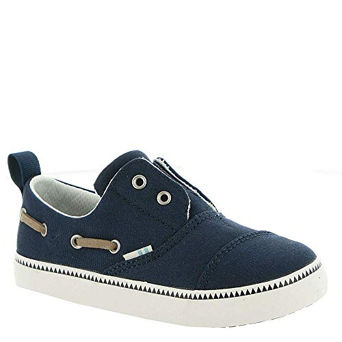 TOMS Tiny Pasadena Slip-On Shoes, Size: 11 M US Little Kid, Color: Navy Canvas