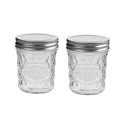 Zsail Frascos de Mermelada Transparente Botes Cristal Pequeño Frascos de Vidrio con Tapa a Prueba de Humedad Tarro de Miel Cristal (Color : 200ml)