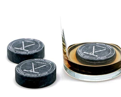 Whiskey Stones Hockey Pucks Chiller Set of 3 - Whiskey Chilling Stones...