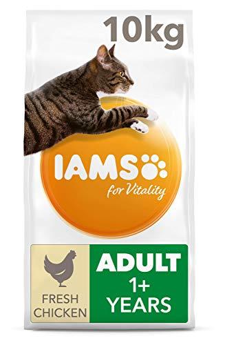 IAMS for Vitality Alimento para Gato Adulto con pollo fresco, 10 kg