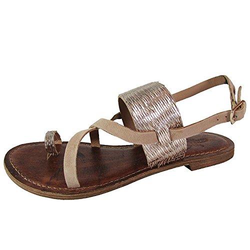 Freebird by Steven Womens Ocean Suede Metallic Wrap Sandal Shoes, Gold, US 7
