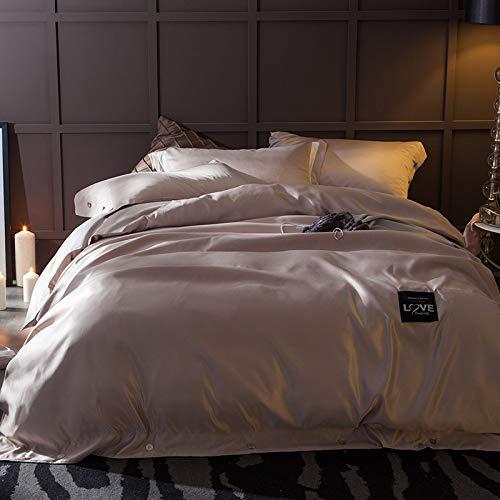 Yaonuli Arran 2 m sprei voor tweepersoonsbed, eenkleurig, vierdelig, 220 x 240 cm