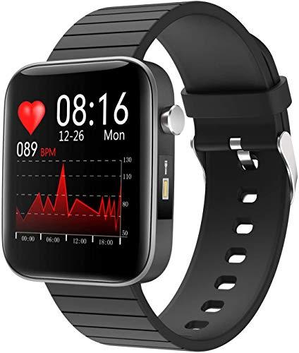 Smartwatch con termómetro corporal, Reloj Inteligente Impermeable IP67 para Hombre Mujer, Pulsera Actividad Inteligente con Pulsómetros, Monitor de Sueño, Podómetro Reloj Deportivo para Android iOS