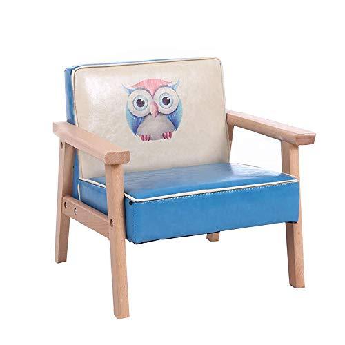 YUMEIGE Kruk houten kruk met rugleuning, voor kleuterschool/kinderslaapkamer/trainingsinstelling gebruik, kinderkruk hout +hoge elastische spons,kinderstoel belasting 150kg