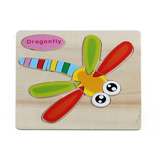 Transer Jouets pour bébé, Papillon en Bois Puzzle Formation perfectionnement pédagogique Jouet (C)