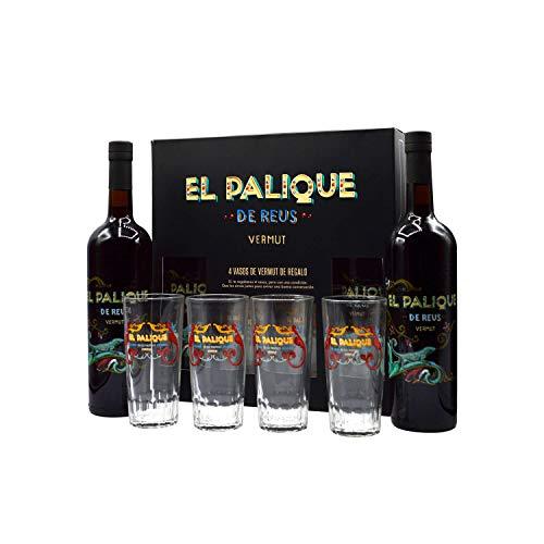 EL PALIQUE de Reus Vermut Rojo - Pack de 2 Botellas y 4 Vasos
