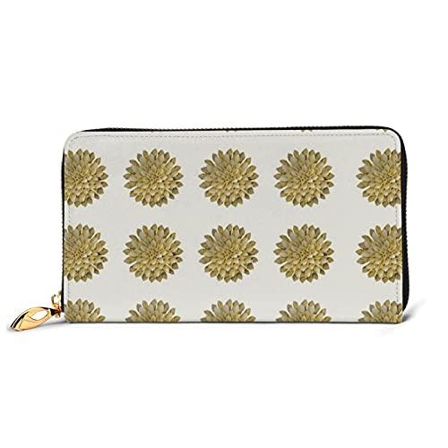 Origami papel Dahlia flor señoras cuero cartera de cuero de vaca de las mujeres bolso largo con cremallera titulares de la tarjeta bolsillo del teléfono monedero de lujo