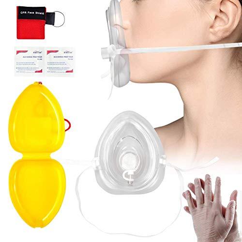 LinkHealth CPR-Maske Schlüsselring Notfallset Rettungstuch fürs Gesicht, Ventil, Luftdicht für Erste Hilfe, set