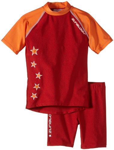 Zunblock Kinder UV-Schutzkleidung Suntop Set, Rot, 86/92, 2300282