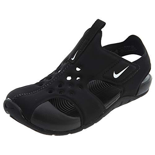 Nike Jungen Sunray Protect 2 (ps) Sport Sandalen, Schwarz (Black/White 001), 35 EU