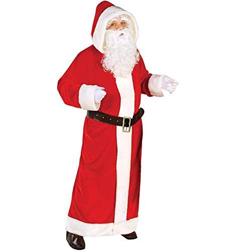 Widmann Unisex Weihnachtsmann Kostüm-Set, Rot-weiß, XL