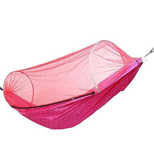 Hamacas1-2 Personas Camping Hamaca Cama Anti-Mosquitera Colgante Columpio Plegable Viaje PlayaHamacas para Acampar