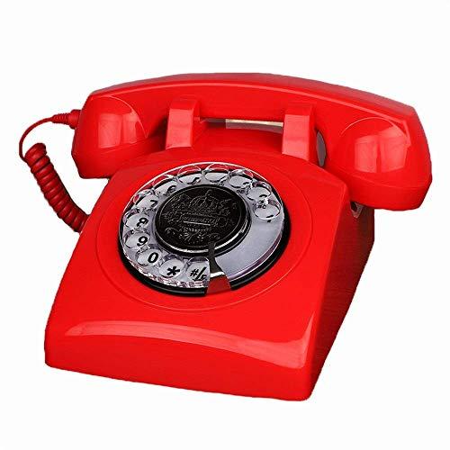 Equipo diario Teléfono de estilo vintage Teléfono antiguo europeo Teléfonos de marcación giratoria Teléfono fijo retro Teléfono de escritorio Teléfono con cable para el hogar y la decoración Teléfo
