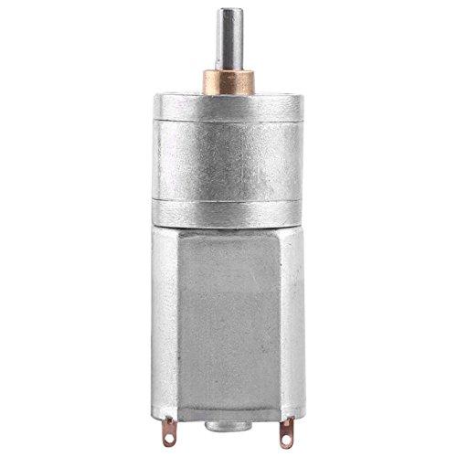 Motor de engranaje eléctrico de 12 V CC de alta velocidad de torsión motor de reducción de 15/30/100/200 RPM con eje de salida centrado de 4 mm de diámetro para coches RC modelo (100 RPM)