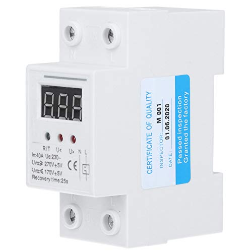 Protector de voltaje automático, protector de sobrecarga 230 V 40A 25S Tiempo de recuperación de plástico