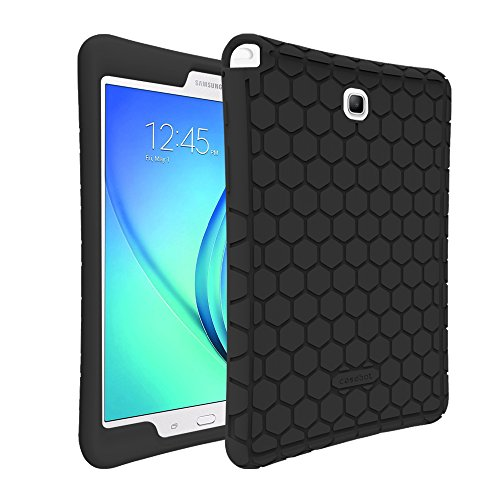 Fintie Silicone Case for Samsung Galaxy Tab A 8.0 (2015 Old Model), Light Weight [Anti Slip] Shock Proof Protective Cover Compatible Tab A 8.0 SM-T350/P350 2015(NOT Fit 2017/2018 Version), Black