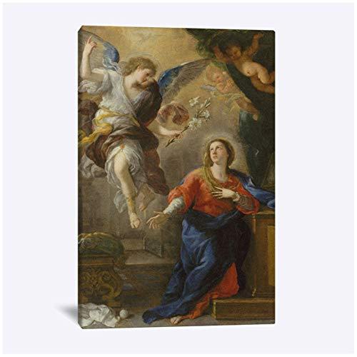 Religieus schilderij Christian Barokke kunst Muur Canvas voor Woonkamer Thuis Slaapkamer Studeerkamer Slaapzaal Decor Prints-50x70cm Geen lijst