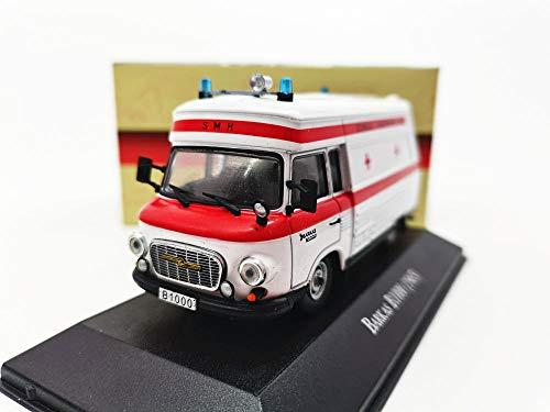 THKZH 1/43 Barkas Barkas B1000 1965 Krankenwagen Aus Aluminiumdiecast Autos,Oldtimer Modellautos,Automodelle Für Erwachsene,Sammlung Modellautos,