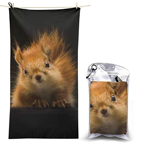 beibao Toallas de baño Pureny Squirrel Animal Fluffy Toalla de Camping de Secado rápido Toalla de Playa compacta de Alta absorción para Gimnasio Mochilero Senderismo 70x130cm