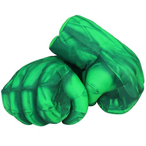 AMZYY 1 Par de Guantes de Hulk Smashing of Hulks, Guante Suave de Boxeo, Disfraz de Cosplay, Juegos, Juguetes para Niños, Cumpleaños, Fiesta de Navidad, Superhéroe