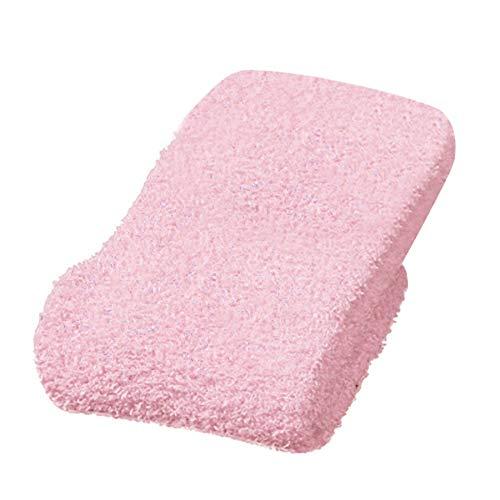 Frauen Socken Flauschige Kuschelsocken, Dicke Warme Socken in Verschiedenen Trendfarben,Einheitsgröße (Rosa)