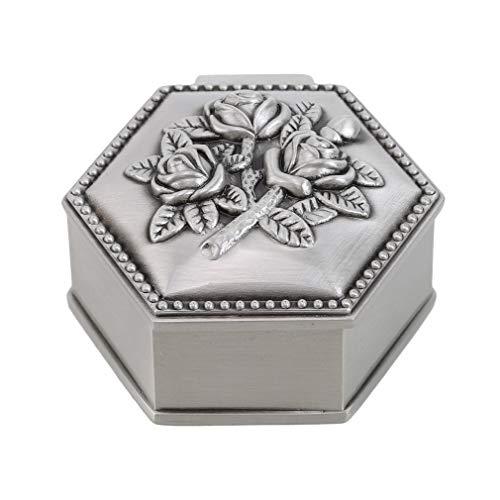 SEVENHOPE Modeschmuckschatulle Vintage Blume Geschnitzte Schmuckstücke Fall Truhe Sarg (Sechseck)