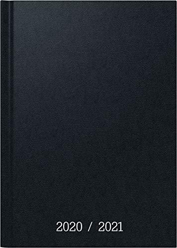 BRUNNEN 1071860151 Wochenkalender/Schülerkalender 2020/2021, 2 Seiten = 1 Woche , Blattgröße 12 x 16 cm , A6 , Balacron , schwarz