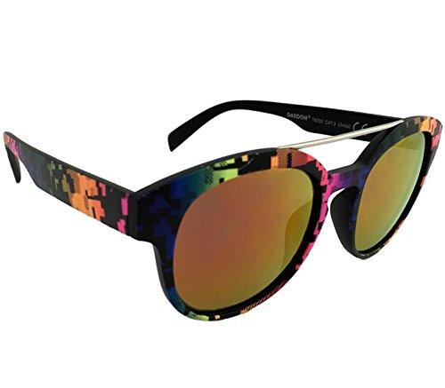 Dasoon Vision Gafas de Sol con Estampado geométrico Multicolor