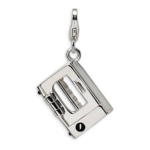 Adornica Diamonds 925 Sterling Silver 3-d esmaltado Horno Tostador con Corchete de...