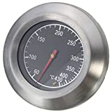 YJJ Thermometer Messgerät, Profi Ofen Grill Holzkohle Smoker Gasgrill Thermometer Templehre 76mm Dial