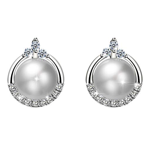 Amilril Pearl Earrings, 925 Sterling Silver Fine Jewellery, Fine Jewellery Elegant Gift Box
