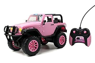 Jada Toys GIRLMAZING Big Foot Jeep R/C Vehicle (1:16 Scale), Pink