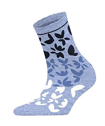 ESPRIT Damen Socken Colorful Flower - Baumwollmischung, 1 Paar, Blau (Light Denim 6668), Größe: 39-42